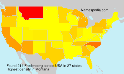 Surname Fredenberg in USA