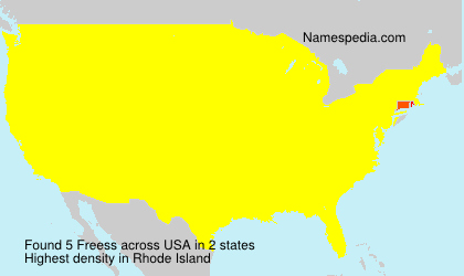 Surname Freess in USA