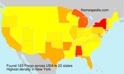 Surname Frego in USA