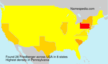 Surname Friedberger in USA