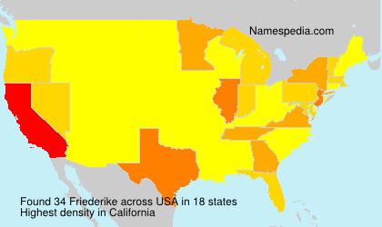 Surname Friederike in USA
