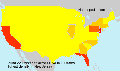 Surname Frontanez in USA
