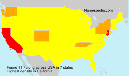 Surname Fulong in USA