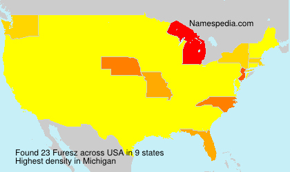 Surname Furesz in USA