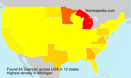 Surname Gabrysh in USA