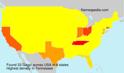 Surname Gagyi in USA