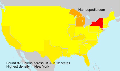 Surname Galens in USA