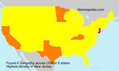 Surname Ganpathy in USA