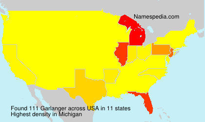 Surname Garlanger in USA
