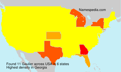 Surname Gaulier in USA