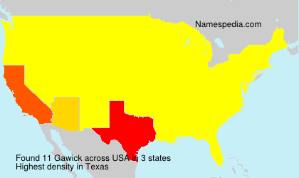 Surname Gawick in USA