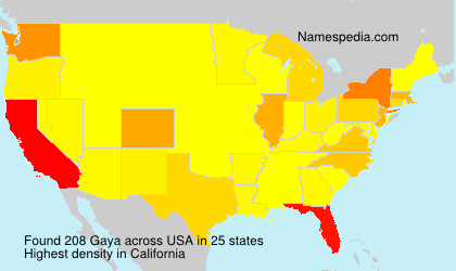 Surname Gaya in USA