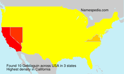 Surname Gebilaguin in USA