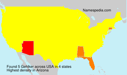 Surname Gehlker in USA