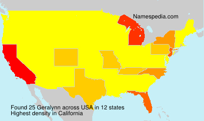 Surname Geralynn in USA