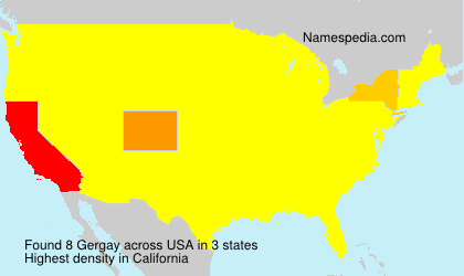 Surname Gergay in USA
