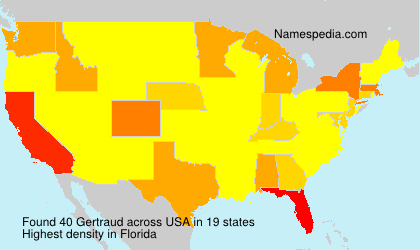 Surname Gertraud in USA