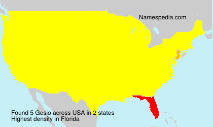 Surname Gesio in USA