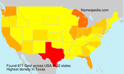 Surname Gest in USA