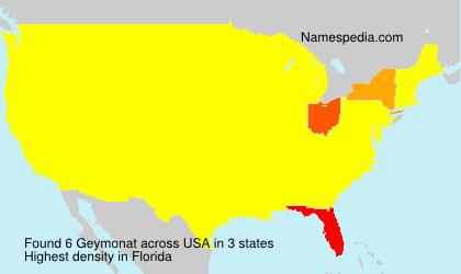 Surname Geymonat in USA