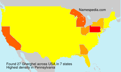 Surname Gherghel in USA