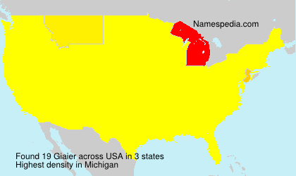 Surname Giaier in USA