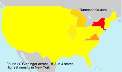 Surname Gierlinger in USA
