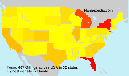 Surname Gillings in USA