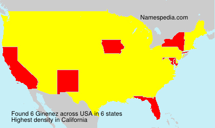 Surname Ginenez in USA