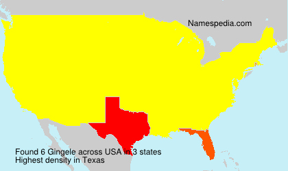 Surname Gingele in USA