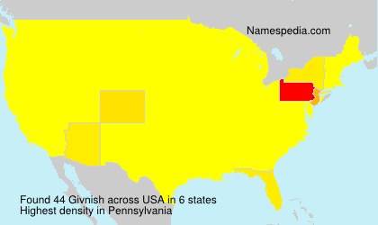 Surname Givnish in USA