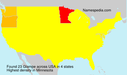 Surname Glampe in USA
