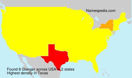 Surname Glanger in USA