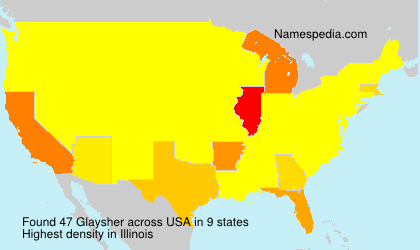 Surname Glaysher in USA