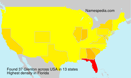 Surname Glenton in USA