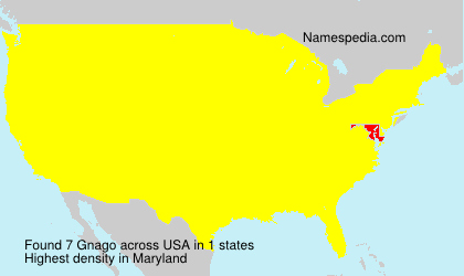 Surname Gnago in USA
