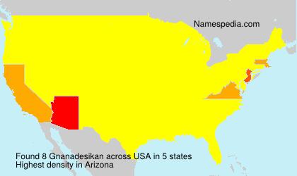 Surname Gnanadesikan in USA
