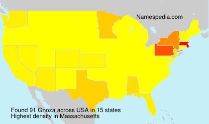 Surname Gnoza in USA