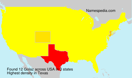 Surname Golaz in USA