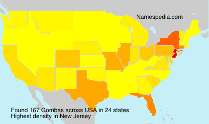 Surname Gombas in USA