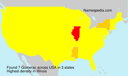 Surname Gomerac in USA