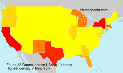 Surname Gomex in USA