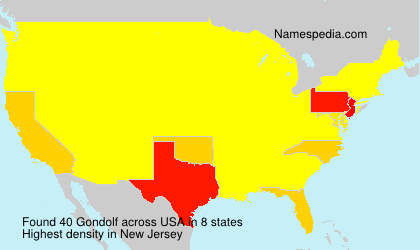 Surname Gondolf in USA