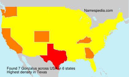Surname Gonzalus in USA
