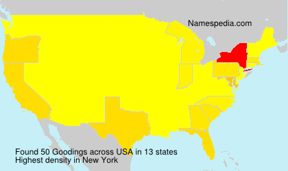 Surname Goodings in USA