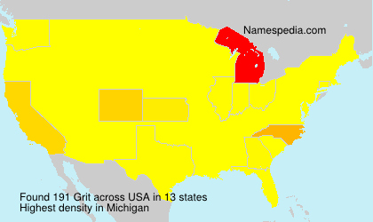 Surname Grit in USA