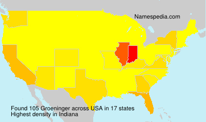 Surname Groeninger in USA