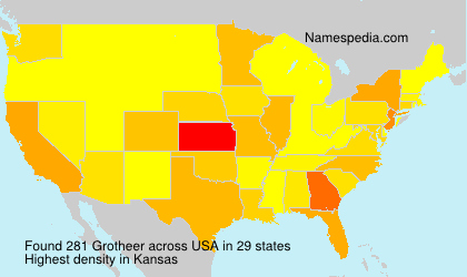 Surname Grotheer in USA