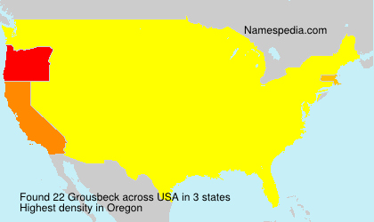 Surname Grousbeck in USA