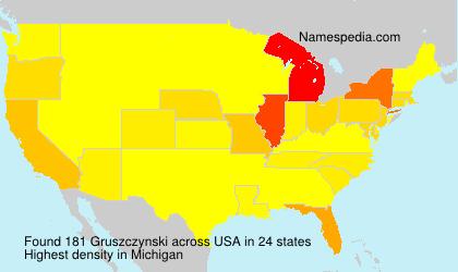 Surname Gruszczynski in USA
